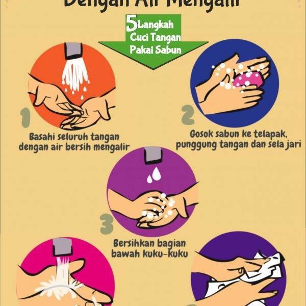 cara cuci tangan 5 langkah