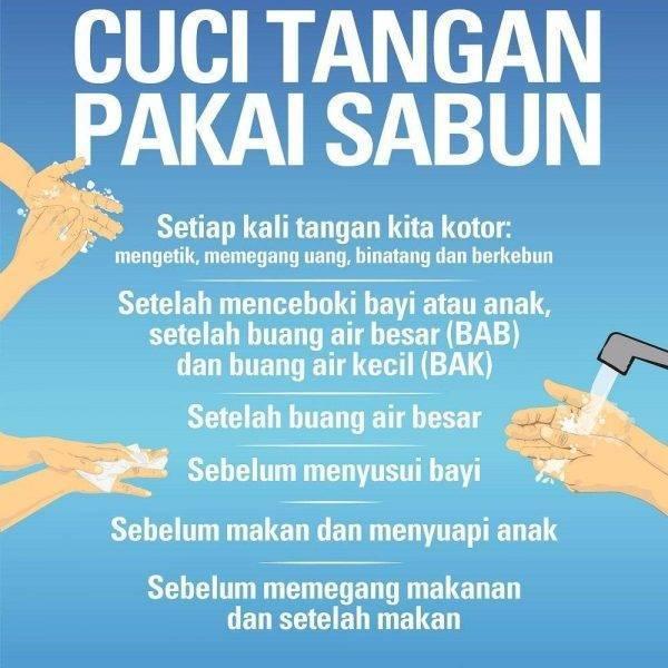 Poster Gambar Cuci Tangan