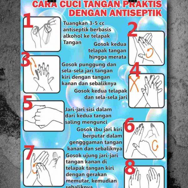 Poster Langkah Cuci Tangan