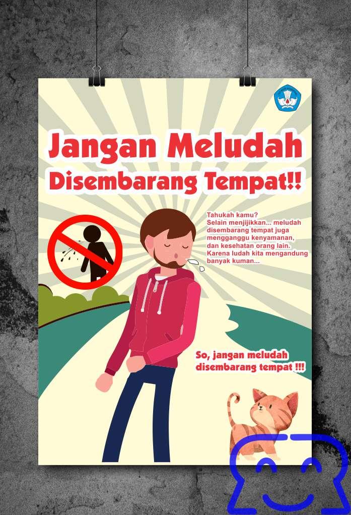 Poster Jangan Meludah Sembarangan