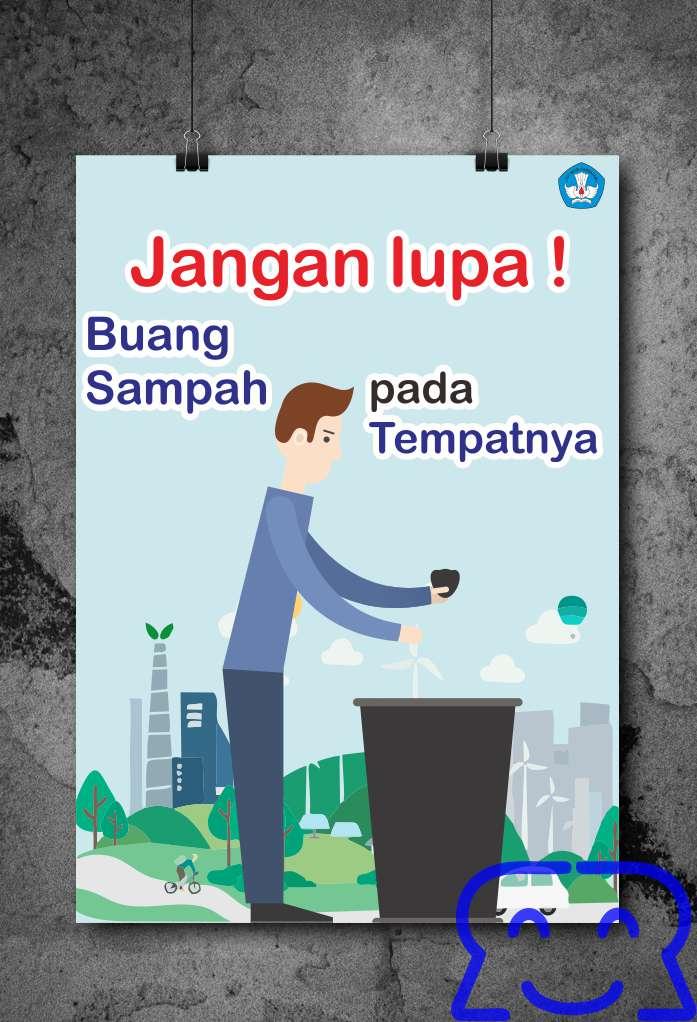 Poster Buang Sampah Pada Tempatnya