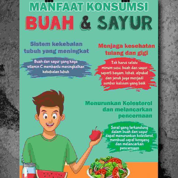 Poster Makan Buah dan Sayur